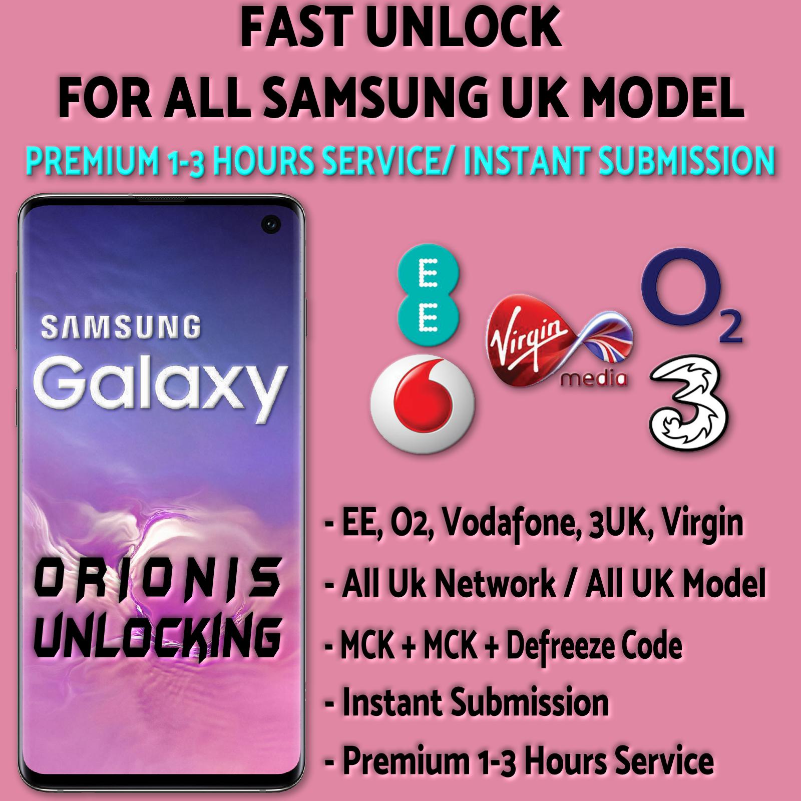 Samsung UK Unlock Code (1-3 hrs)